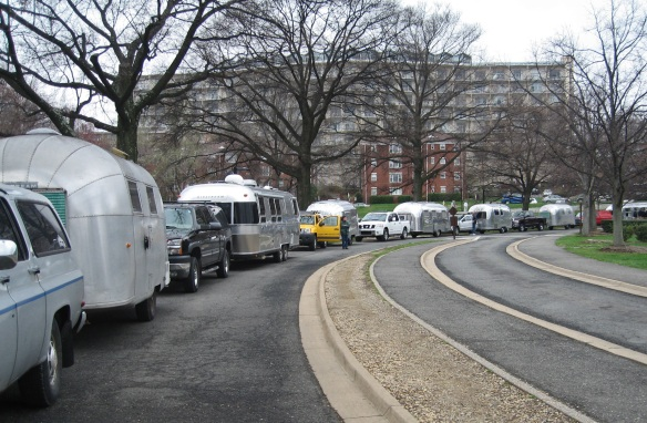 The Caravan into the Capital.  Can you imagine maneuvering one of those things on the tight streets of D.C.?