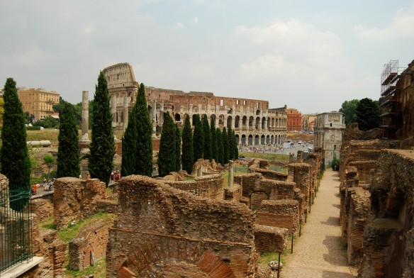 Another view...this time from inside the Roman Forum.