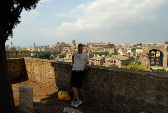 On top of Palatine Hill with great views of the city and the ruins.