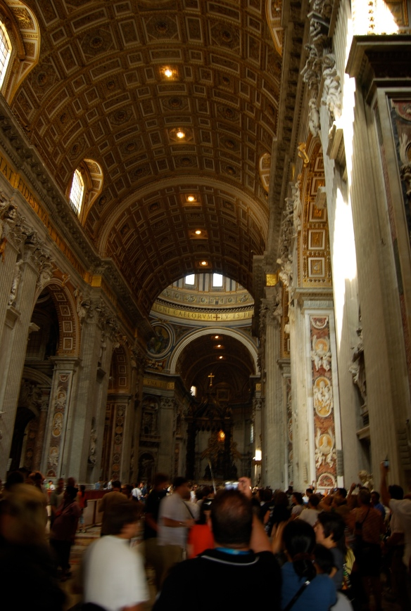 Saying that the basilica is large is an understatement.