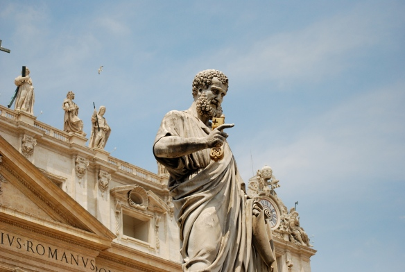 St. Peter overlooking the Piazza.