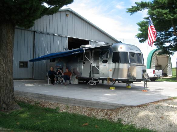 The airstream fit in nicely at the Florer Farm.