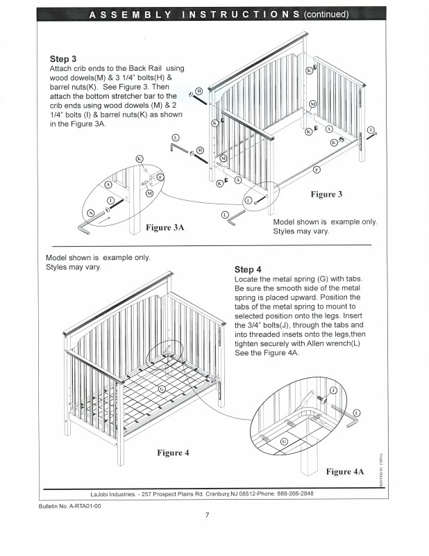 Dream On Me Toddler Bed Style  Instructions