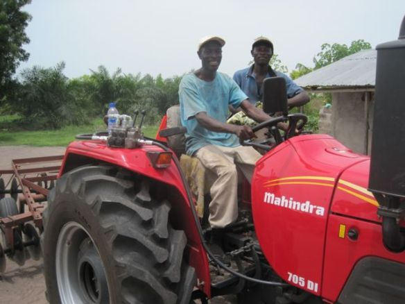 Richard & Kujo on new tractor
