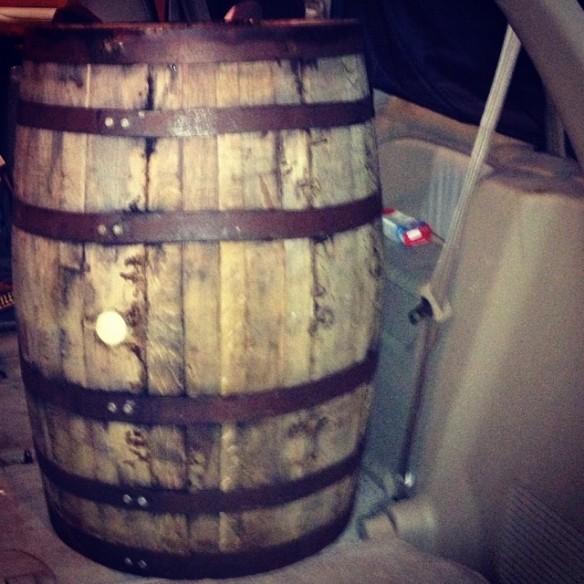 Barrel in Van