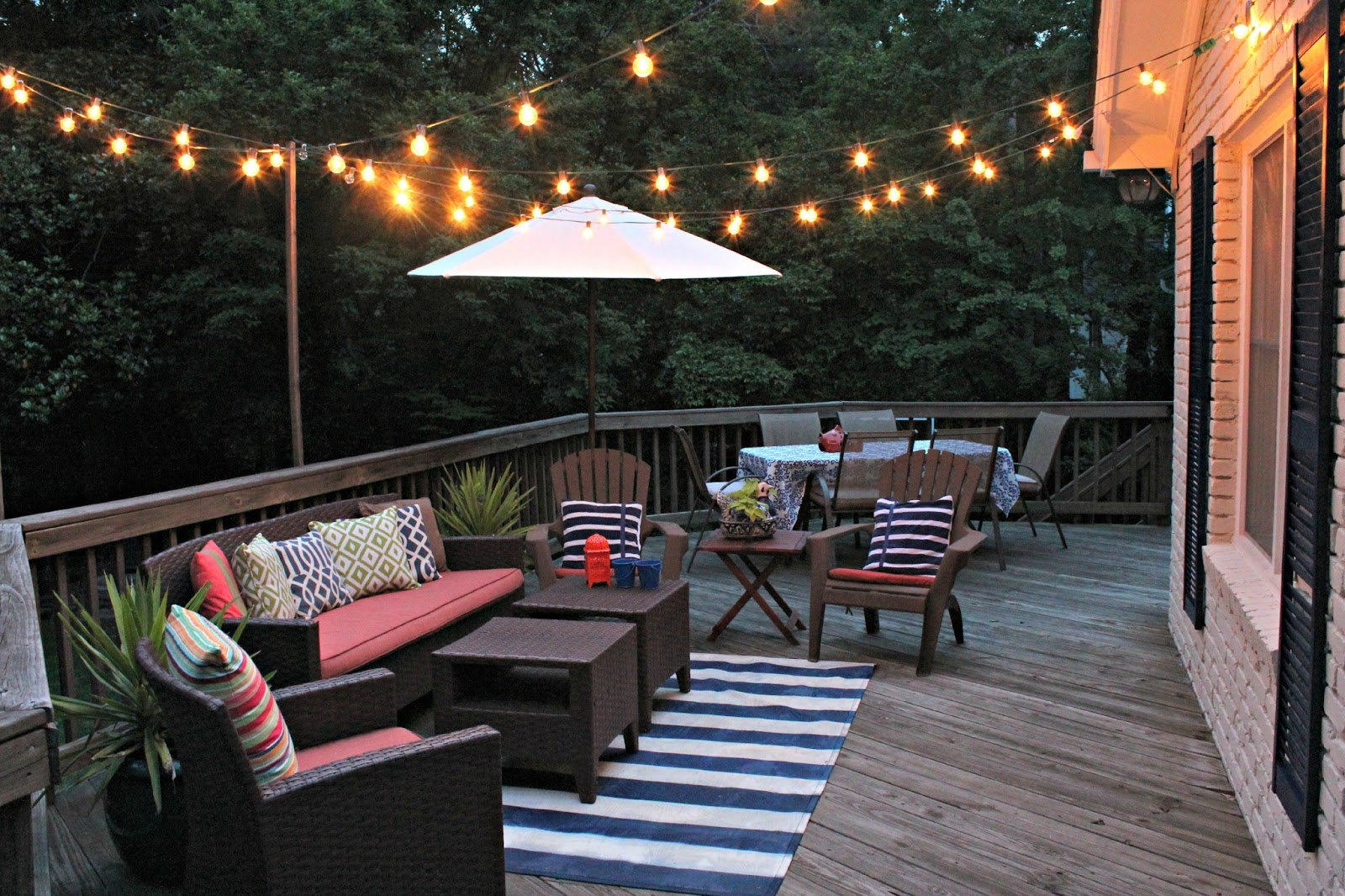 Spring projects living in pursuit Patio and deck lighting ideas